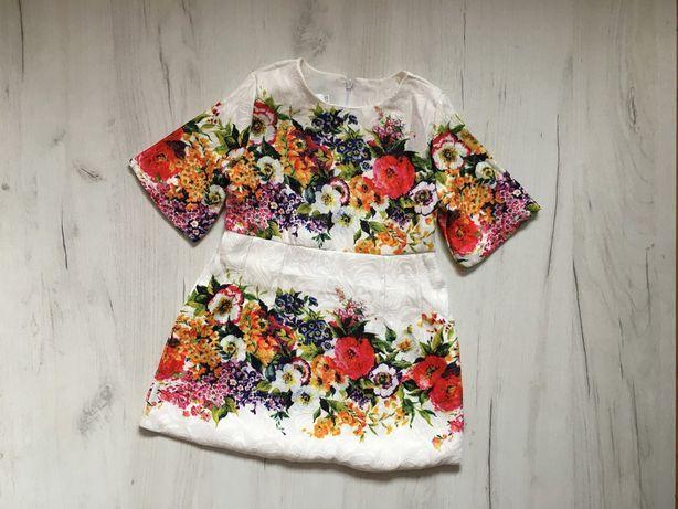 платье для девочки 104-110см. Сукня плаття в квіти