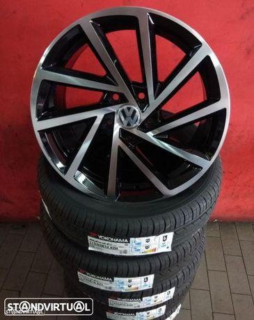 Jantes 17 NOVAS VW GTI pretas polidas C/ pneus usados