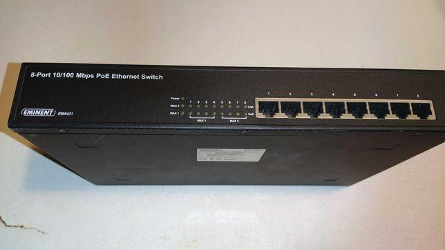 switch poe 8 portas capacidade de até 140w em dispositivos