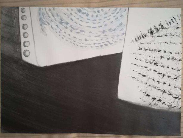 Desenho pintura ilustração - livros 2 - grafite lápis cera tinta china
