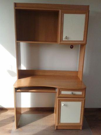Biurko drewniane z organizerem dla dziecka