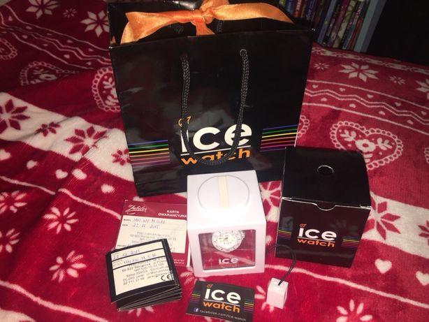 Biały zegarek Ice watch wodoodporny dla dziewczynki