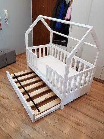 Łóżko domek skandynawskie dla dziecka z szufladą z funkcją spania