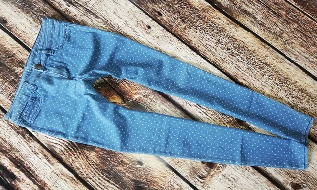 Tezenis,Nowe jeansy rurki w kropki