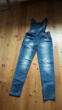Spodnie jeansy ogrodniczki