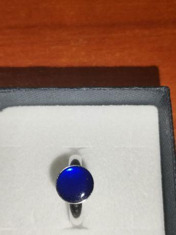 Srebrny pierścionek z żywicą epoksydową