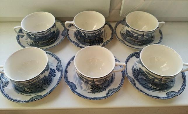 Фарфор Johnson Brothers, Англія. Чайний сервіз на 6 персон. Винтаж