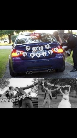 Надпись на свадебную машину