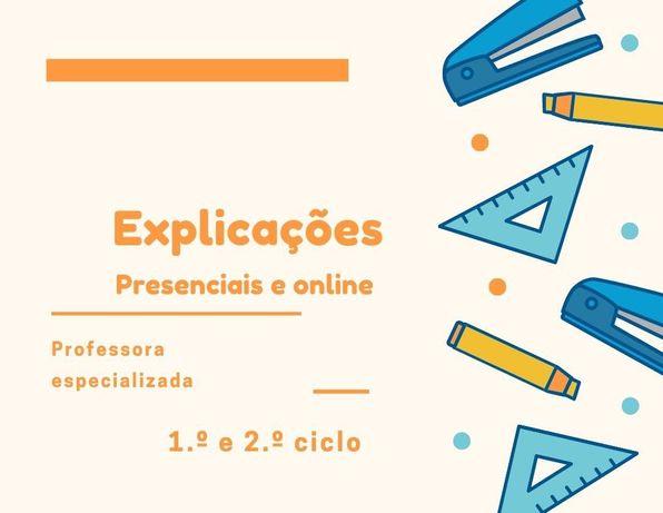 Explicações/aulas online ou presenciais