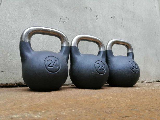 Гиря чугунная гири CrossFit атлетические от 8 кг до 96 кг спортивная