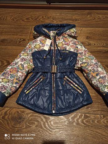 Новая весенняя, демисезонная куртка, на рост 122-128 см.