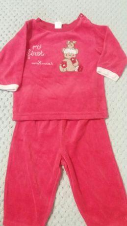 Тепла піжамка 0-3 місяці (костюмчик) на Різдвяні свята