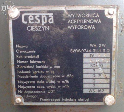 Wytwornica acetylenowa wyporowa NOWA