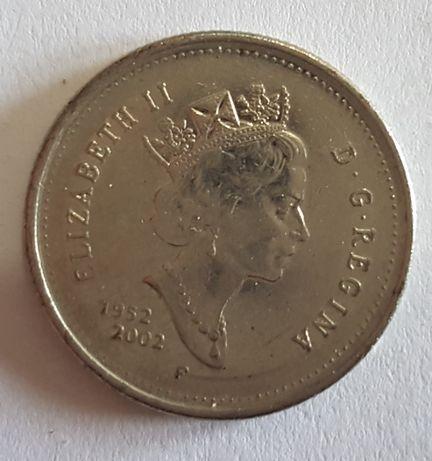 Moeda 25 centimos 50º Aniversário Rainha Elizabeth II - 1952/2002