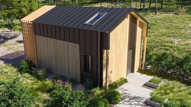 Dom 35m2 z antresolą 5x7 całoroczny zestaw do sam. montażu ocieplony