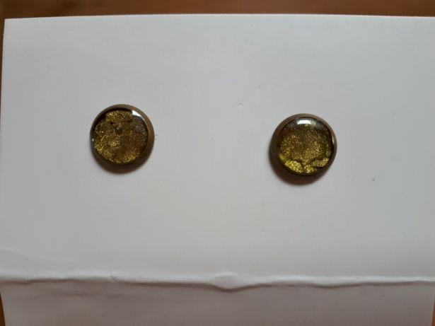 Kolczyki w kolorze złota handmade