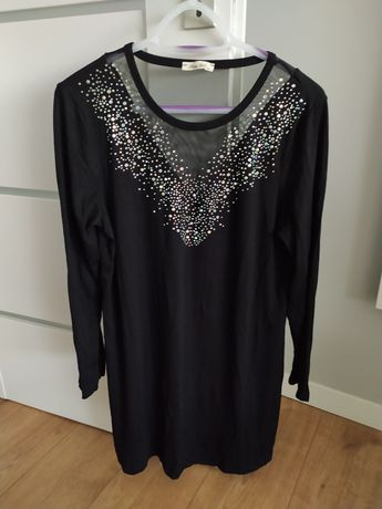 Sukienka czarna tunika M/L