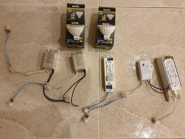 5 balastros + adaptadores + 2 led