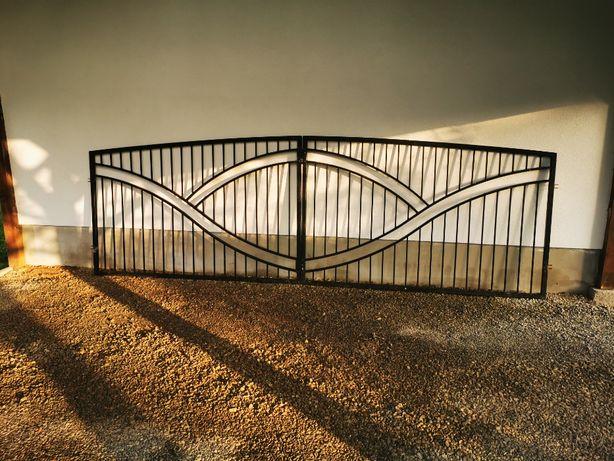 Brama wjazdowa, ocynk ogniowy, kolor na życzenie i w cenie.