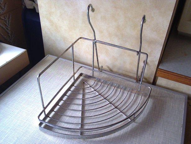 Полочка-держатель-подставка (металлическая) на трубу-рейлинг для кухни