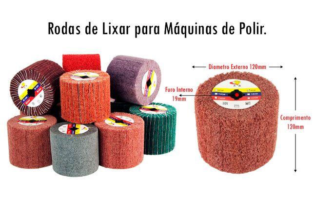 Rolo de Lixa com ou sem Abas para Máquinas de Polir/Lixar