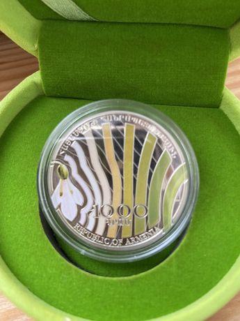 Монеты, серебро, монета Армении 925 проба