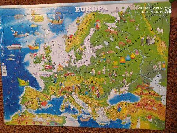 Puzzle edukacyjne, rozmiar 46x33 cm - 4 rodzaje do wyboru.