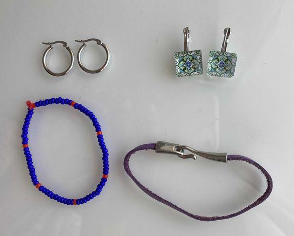 Bijuteria - brincos e pulseiras