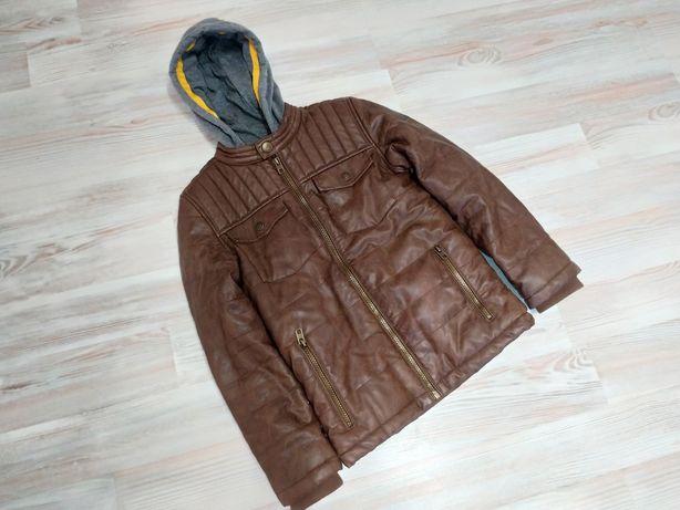 Куртка демисезонная (тёплая кожанка, состояние новой)