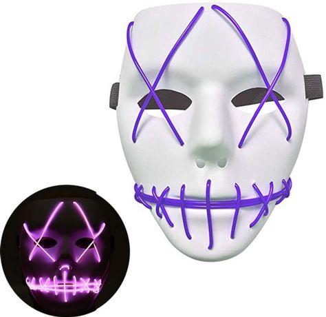 Неонова маска для вечірок з підсвіткою UFT LED Mask 1 (Різнокольорові)