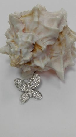 Piękny srebrny wisiorek - motyl 925