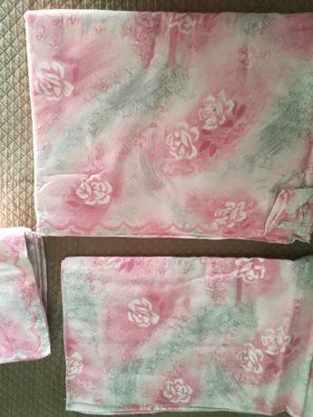 Conjunto cama NOVOS lençol baixo+cima+2 fronhas