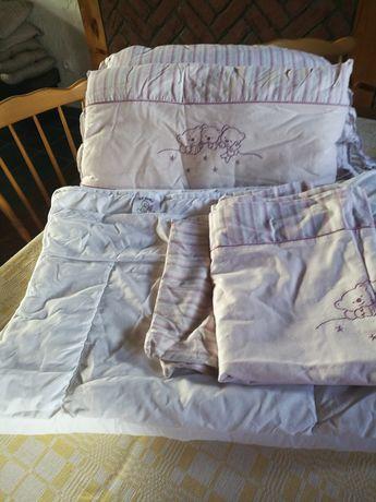 Pościel dziecięca plus ochraniacze do łóżeczka