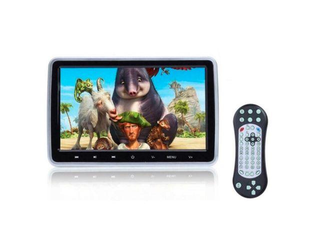 DVD na Zagłówki Samochodowe Ekran 10 '' USB SD GRY