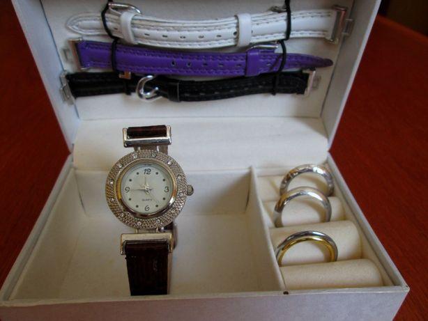 zegarek damski VARIO + 3 paski + 3 obwódki