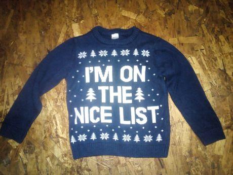 Новогодний свитшот, свитер на 4-5 лет
