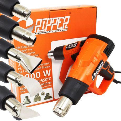 NOWA Elektryczna opalarka 2 biegi 2000W 350/550C gratis 5 dysz RIPPER