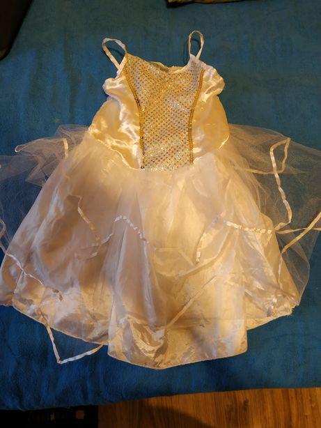 Sukienka bal przebranie jasełka Anioł 4-5lat