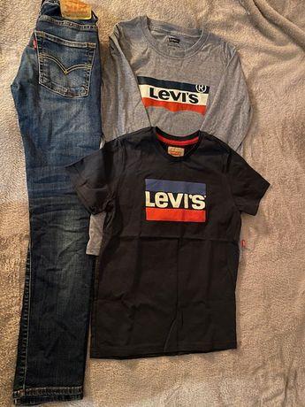 Levis chłopiec 158 164 jeans 510 skiny fit nowa bluza, koszulka Levi's
