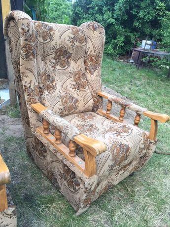 Fotel PRL uszak 2 szt