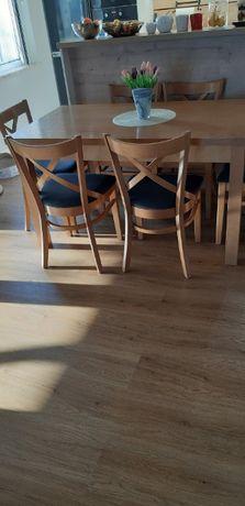 Krzesła drewniane klasyczne gięte wyściełane -solidne