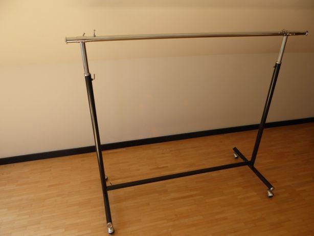 Solidny wieszak na ubrania 120/185 cm z regulowaną szerokością i wys.
