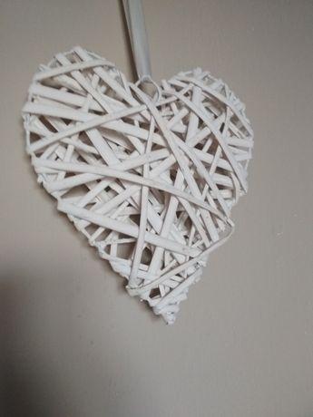 Wiklinowe serca dekoracja ślub wesele