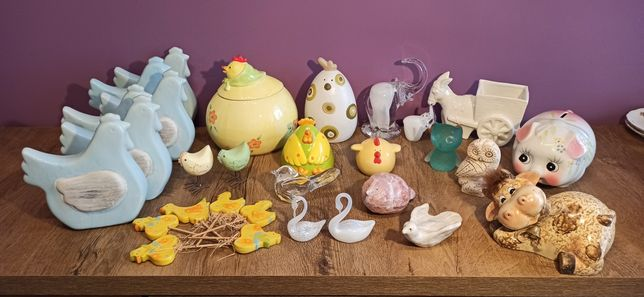 Kura ceramiczna - żółta - figurka
