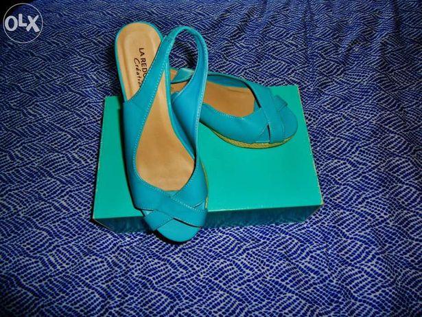 Sandálias azuis La Redoute, Nº 37