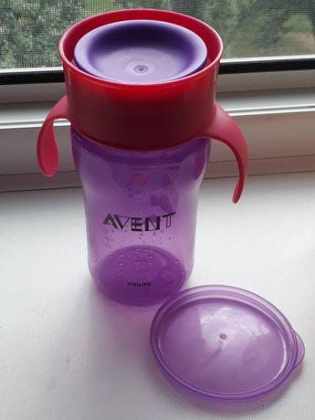 Тренировачная чашка Avent 300 мл+поильник