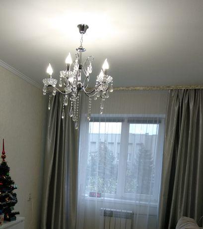 Красивые серебристые шторы