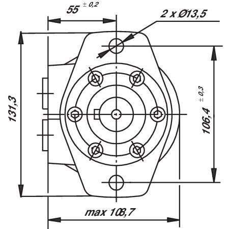 Silnik hydrauliczny SMR OMR BRM 125CM3 FI 25