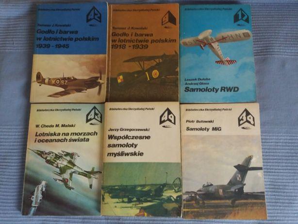 Książki o samolotach z serii Bibloteczka Skrzydlanej Polski