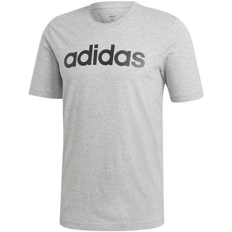 Koszulka adidas Essentials Linear Tee szara DU0409-różne rozmiary